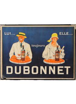 Original Vintage French Menu Holder advertising Dubonnet ca. 1930