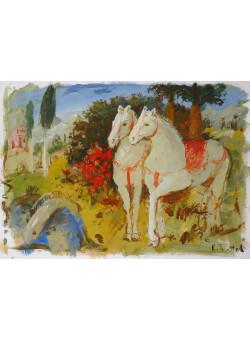 Original Oil on Canvas Painting by Ukrainian Artist Kim Tkatch