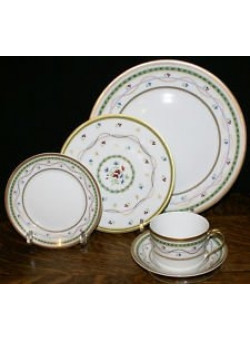 LUXEMBOURG CHINA BY FABERGE A set of 79 Never Used Dishes.