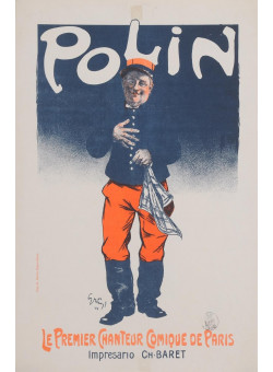 "Original Vintage OVERSIZE French Poster ""Polin"" by Grun 1900"