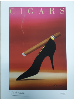 "Limited Ed. Hand Signed Print ""CIGARS"" by Razzia 151/995"