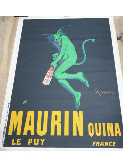 """Original Vintage French Poster  for """"Maurin Quina"""" by Cappiello 1906"""