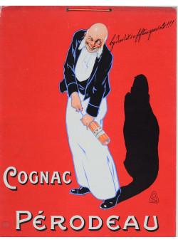 """Original Italian Advertisement Vintage Antique Poster  for """"Cognac Perodeau"""""""