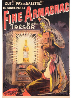 "Original Vintage French Poster for ""Fine Armagnac"" by Oge"
