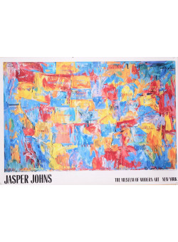 Poster Advertising Exhibition of Jasper Johns at The Museum of Modern Art