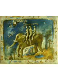 Original Signed Oil on Canvas Painting Contemporary Ukraine Artist - Kim Tkatch