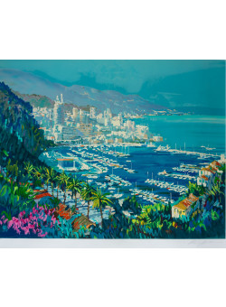 Kerry Hallam - Cannes, hand-signed limited edition serigraph