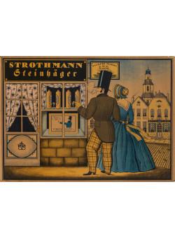 "Original Vintage German Alcohol Poster ""Strothmann Steinhager"" by Simon ca. 1920"