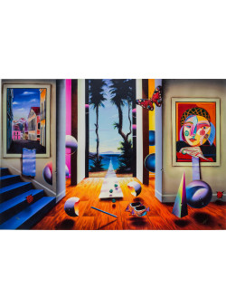 "FERJO  ""Journey-To-Paradise"" 2006 Hand Signed Giclee on Canvas by Ferjo"