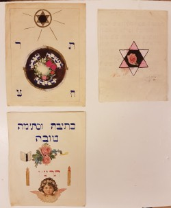 Set of 3 Original Vintage Rosh Hashanah New Year Blessings 1930's. Rare!!!