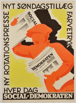 Swedish Poster for Demokraten by Sylvester Hvid 1930