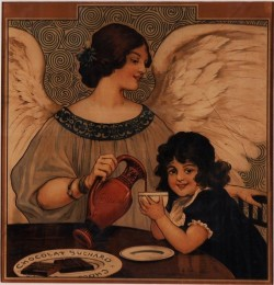 Original Vintage Advertising Poster for Chocolate
