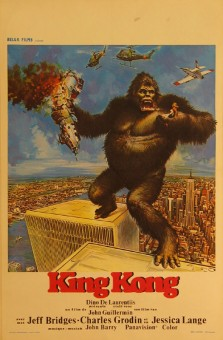 """Authentic Vintage French Poster by John Berkey """"King Kong"""" 1976"""