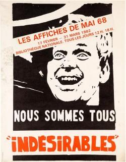 Original Vintage French Student Revolution Poster