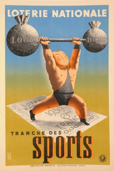 Loterie Nationale  -Tranche des SPORTS by Derouet Lesacq  1939
