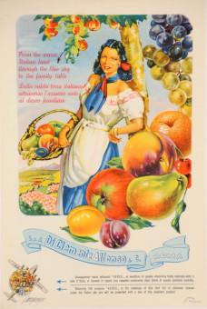 Original Vintage Italian Advertising Poster for