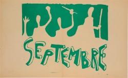 """French Student Revolution Poster """"SEPTEMBER"""""""
