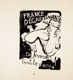 Original Vintage French 1968 Student Revolution Poster