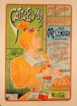 Original Vintage Dutch Alcohol Poster