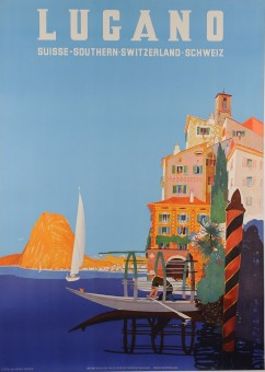 Original Vintage Swiss Travel Poster