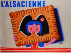 "Original French Vintage Poster ""la petite Sophie"" L'Alsacienne by Hervé Morvan"