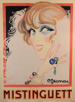 Original Vintage Classic French Poster for Mistinguett by Gesmar