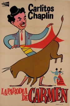 Charlie (Carlitos) Chaplin Spanish Movie Poster for