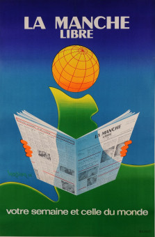 Vintage French Poster Advertising the News Paper