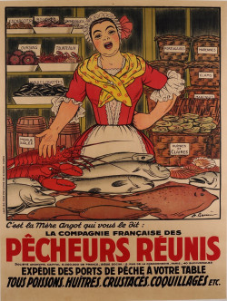 Original Vintage French Poster for Pecheurs Reunis