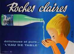 Original Vintage French Poster for Roches Claires
