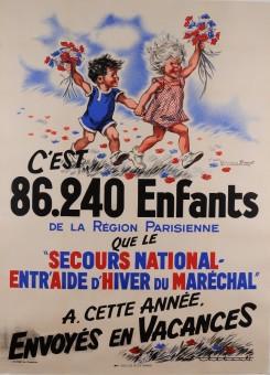 Original Vintage French Children Poster for