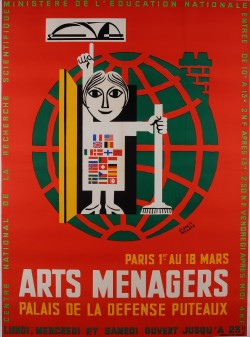 Original Vintage French Poster for Arts Menagers