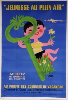Original Vintage OVERSIZE French Poster