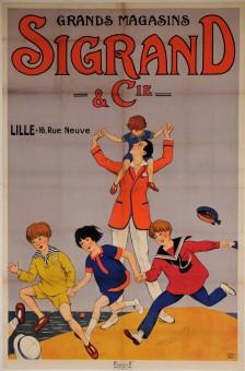 Original Vintage French OVERSIZE Poster