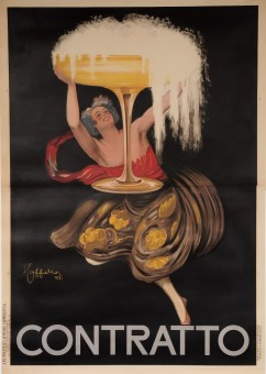 Original Vintage Italian Alcohol OVERSIZE Poster for