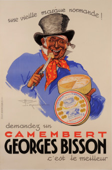 Original Vintage French Poster for Camembert