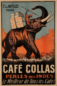 Original Vintage French Poster for Cafe Collas