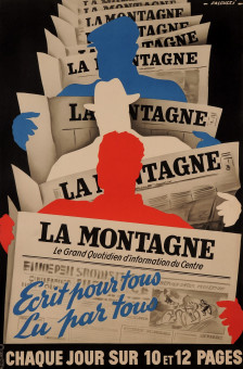 Original Vintage French Newspaper Poster