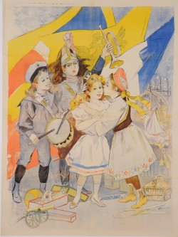 Original Vintage French Children Poster by Firmin Bouisset - BEFORE LETTERS