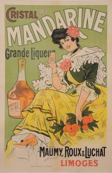 Original Vintage French Alcohol Poster Advertising