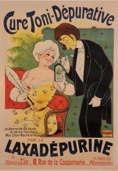 Original Vintage French Poster for Laxadepurine - Cure Toni-Depurative