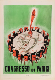 Original Vintage Italian Propaganda Poster for