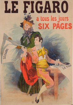 Original Vintage French Newspaper Poster for