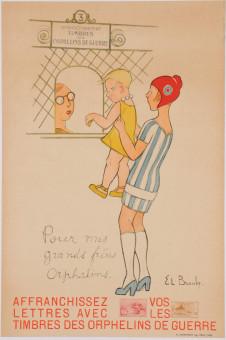 Original Vintage French War Propaganda Poster