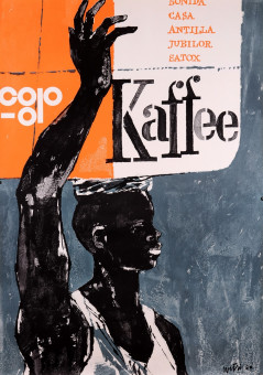 Original Vintage French Poster for Kaffee by Wetsi