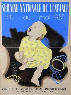 Orginal Vintage French Children Poster