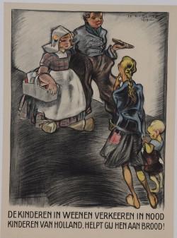 Original Vintage Holland Poster for Help the Children