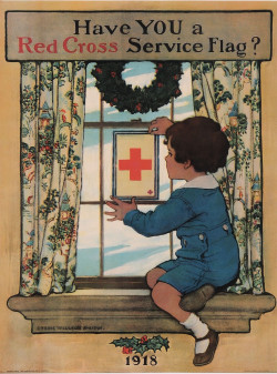 Original Vintage French Poster for Red cross Service Flag?