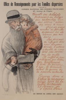 Original Vintage Poster for Office de Renseignements Pour les Famille Dispersees